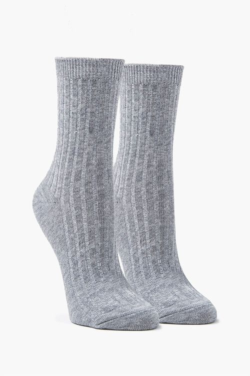 Marled Crew Socks, image 1