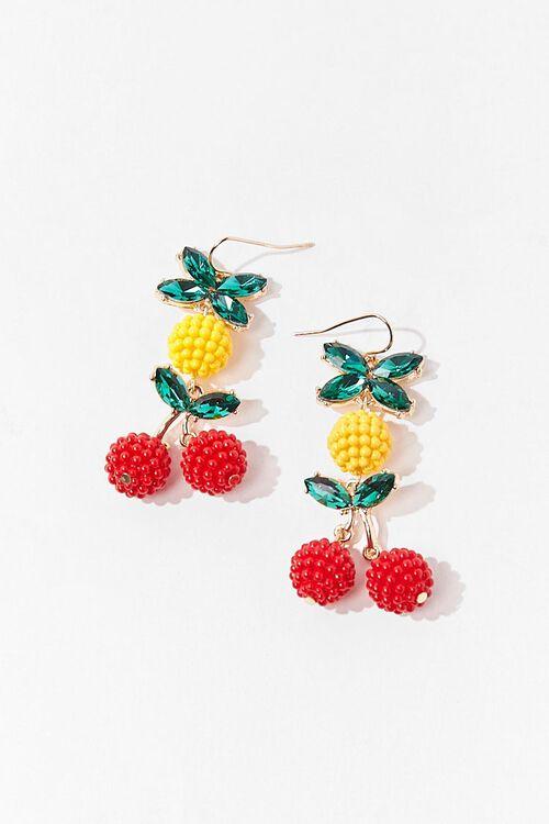 Cherry & Pineapple Drop Earrings, image 2