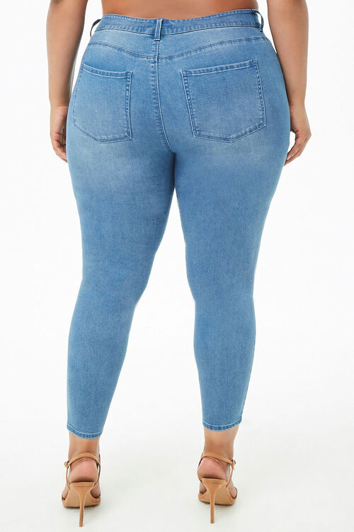 Plus Size Sculpted Mid-Rise Skinny Jeans, image 4
