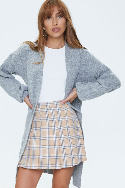 Cable Knit Cardigan Sweater, image 1