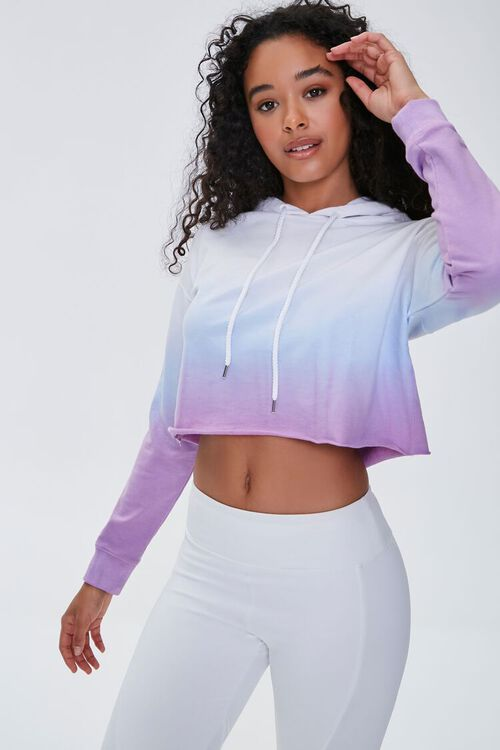 Active Ombre Raw-Cut Hoodie, image 1