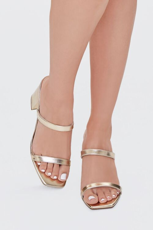 Metallic Slip-On Block Heels, image 4