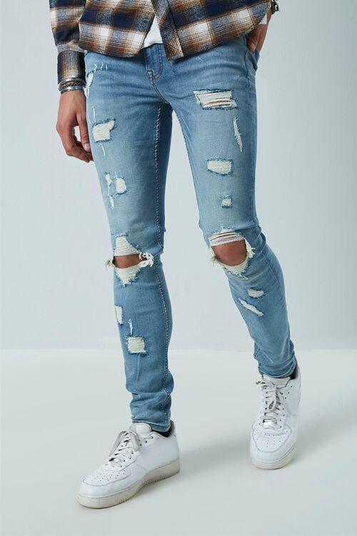 Distressed Slim-Fit Jeans, image 1