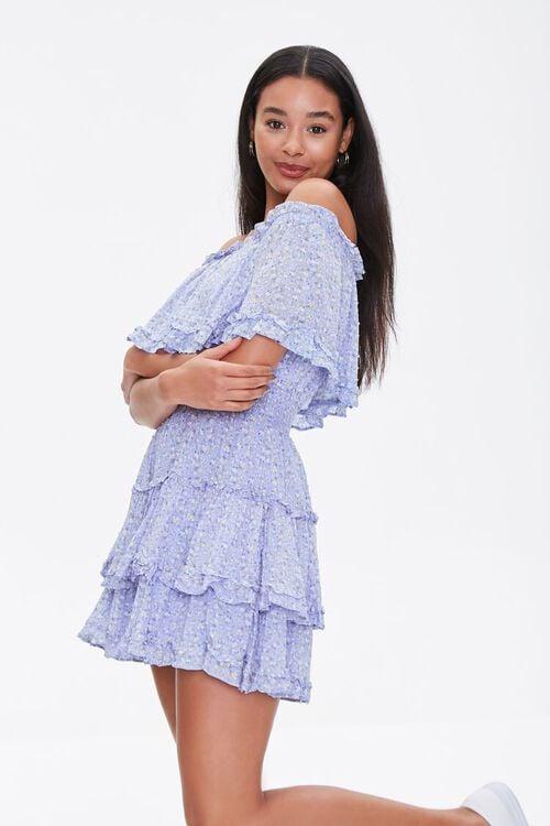 Off-the-Shoulder Floral Print Dress, image 1