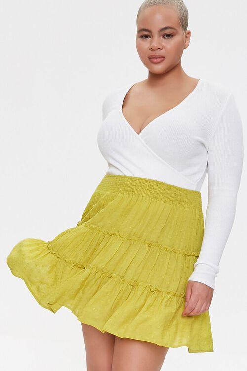 Plus Size Clip Dot Mini Skirt, image 1