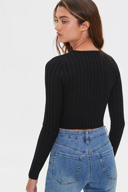 Cropped Rib-Knit Sweater, image 4