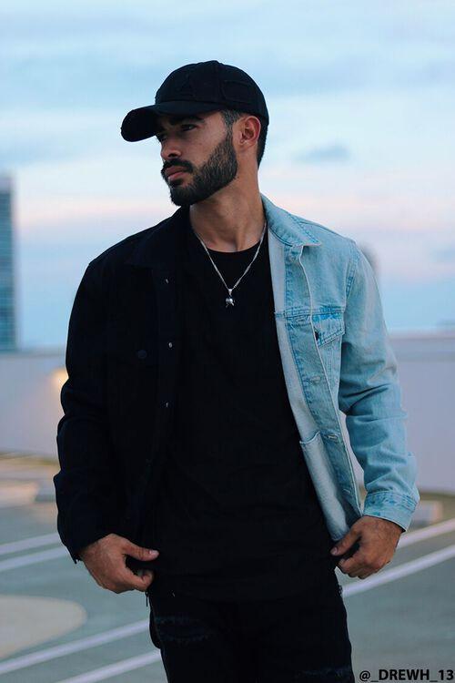 DENIM WASHED/BLACK Reworked Denim Jacket, image 1