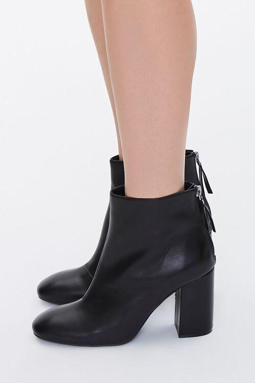 Faux Leather Block Heel Booties, image 2