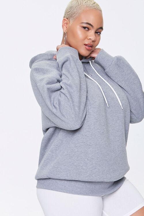 Plus Size Fleece Drawstring Hoodie, image 1