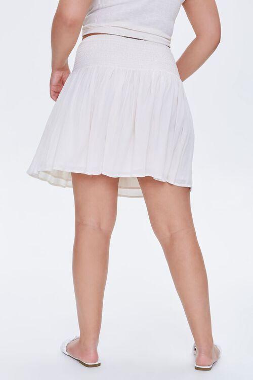Plus Size Smocked Mini Skirt, image 4