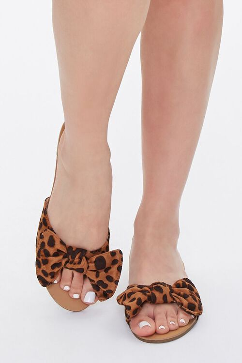 Knotted Leopard Print Sandals, image 4