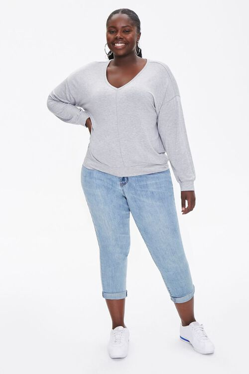 Plus Size Active Heathered Top, image 4