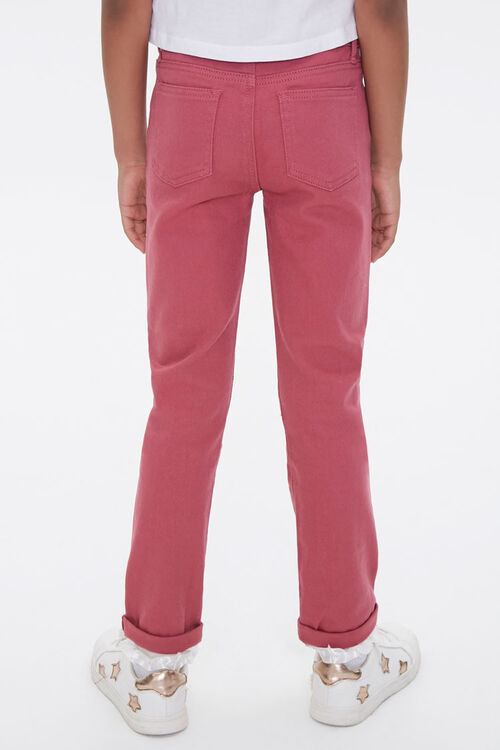 Girls Distressed Cuffed Pants (Kids), image 4