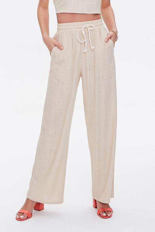 Linen-Blend Crop Top & Pants Set, image 4