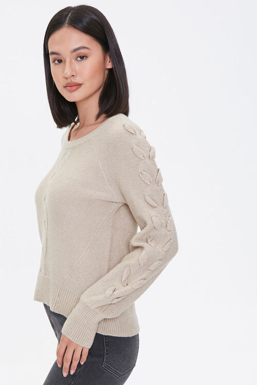 Lace-Up Sleeve Sweater, image 2