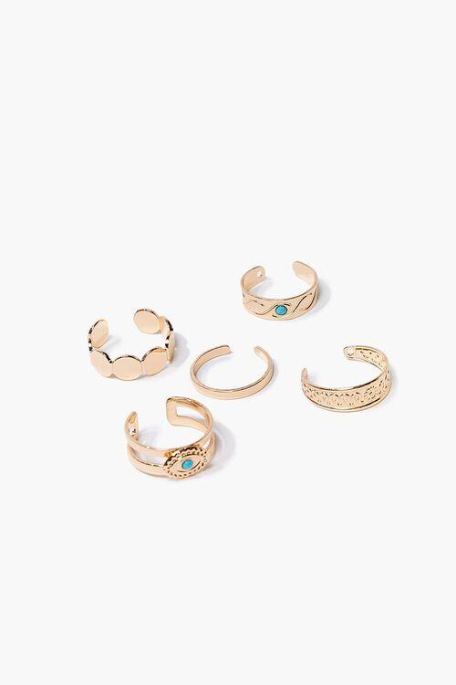 Faux Turquoise Toe Ring Set, image 1
