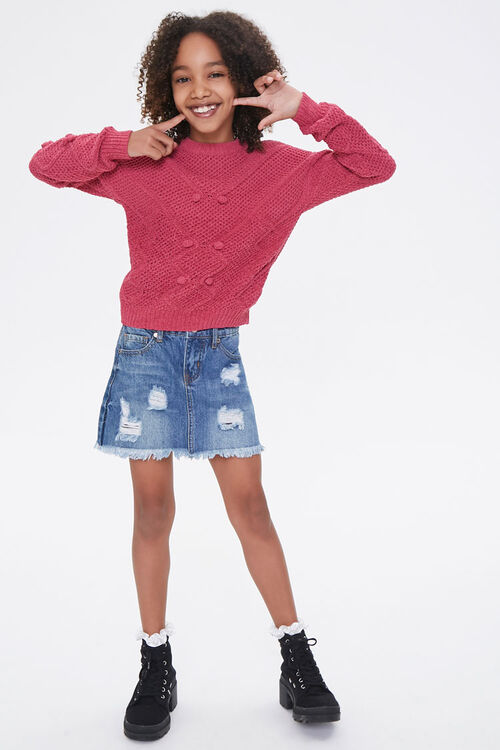 Girls Pom Pom Sweater (Kids), image 4