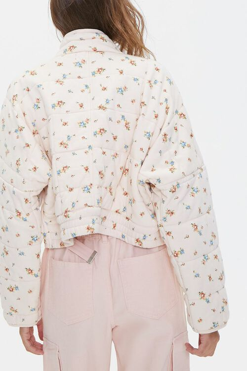 Floral Print Quilted Jacket, image 3