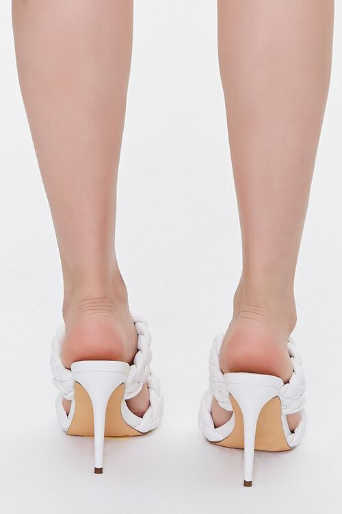 WHITE Braided Twisted High Heels, image 3