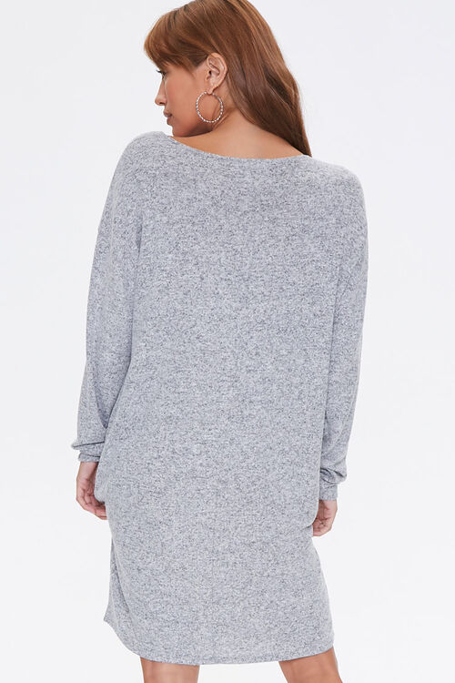 Marled Shift Mini Dress, image 3