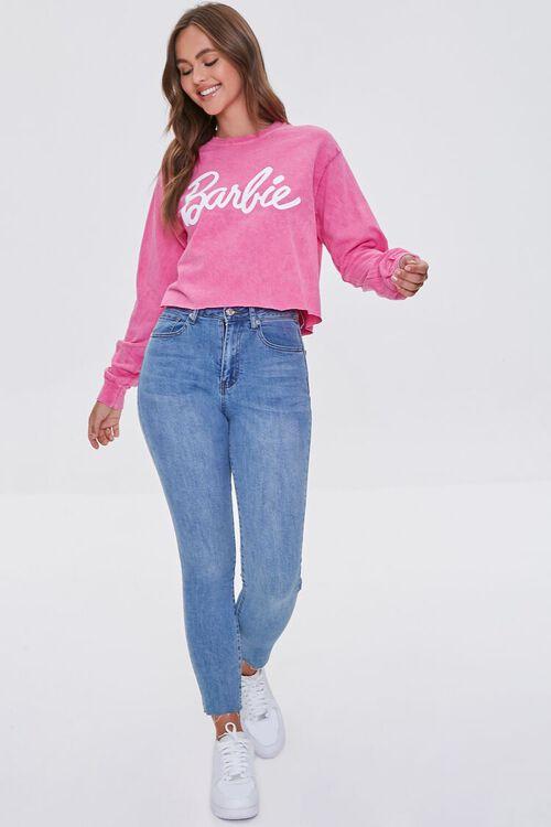 PINK/WHITE Acid Wash Barbie™ Graphic Top, image 4