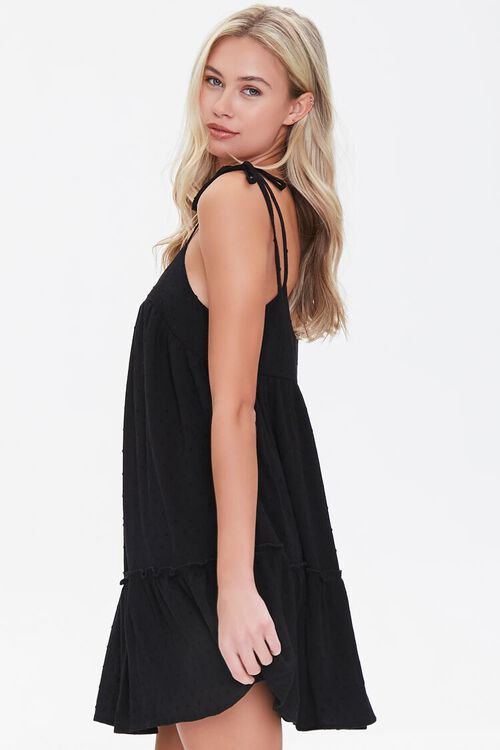 BLACK Flounce-Hem Mini Shift Dress, image 2