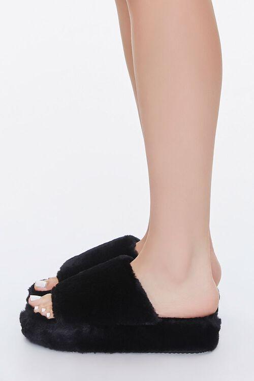 Faux Fur Platform Slippers, image 2