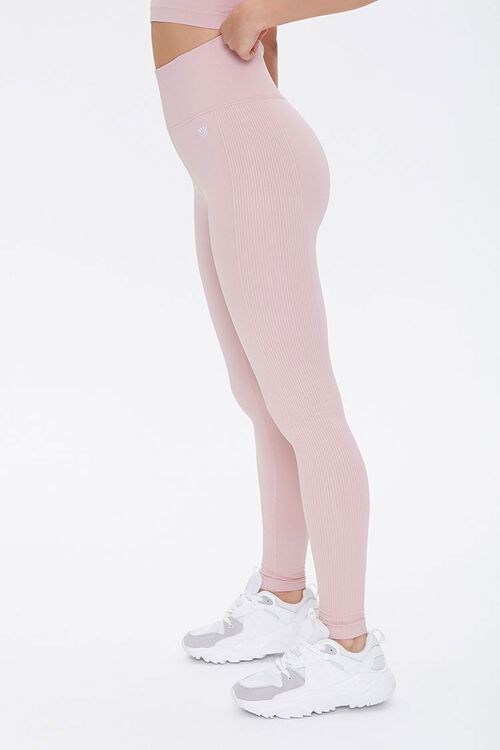 Active Seamless Ribbed-Trim Leggings, image 2