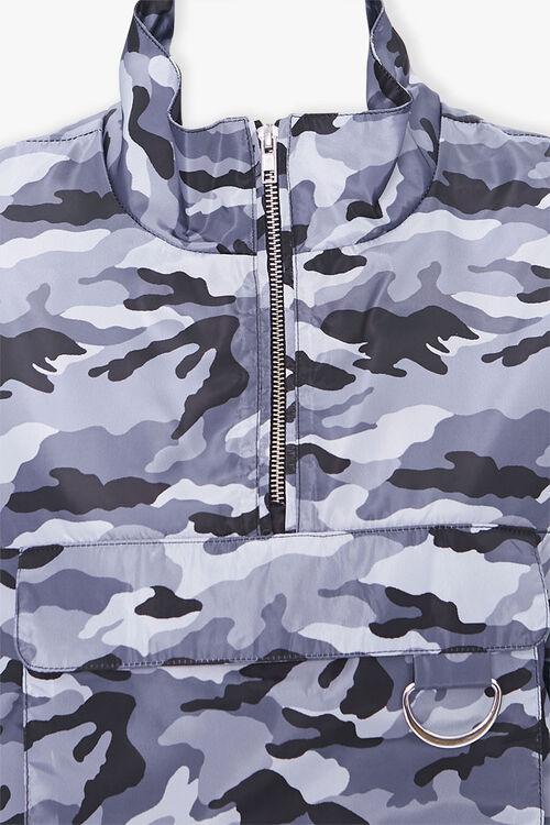 BLACK/MULTI Camo Print Half-Zip Anorak, image 4