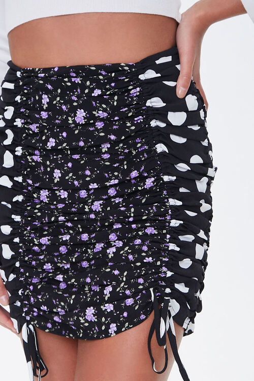 Ruched Patternblock Mini Skirt, image 5