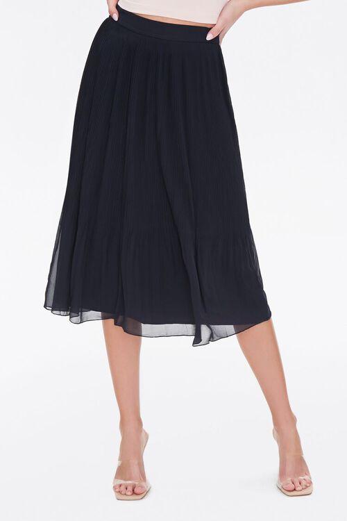 Knee-Length Pleated Skirt, image 2