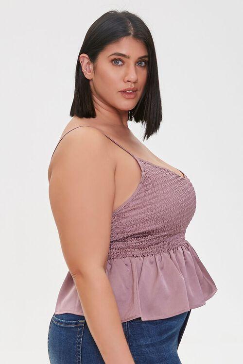 Plus Size Smocked Flounce Cami, image 2