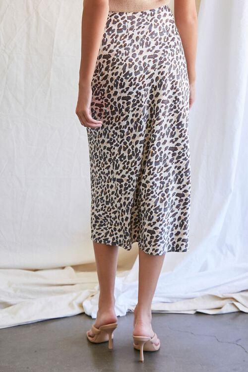 TAN/BLACK Leopard Print Midi Skirt, image 4