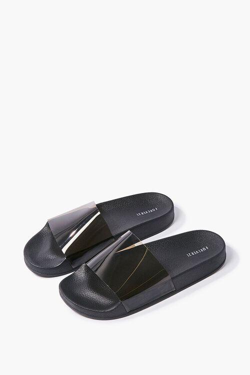 Semi-Transparent Slide Sandals, image 1