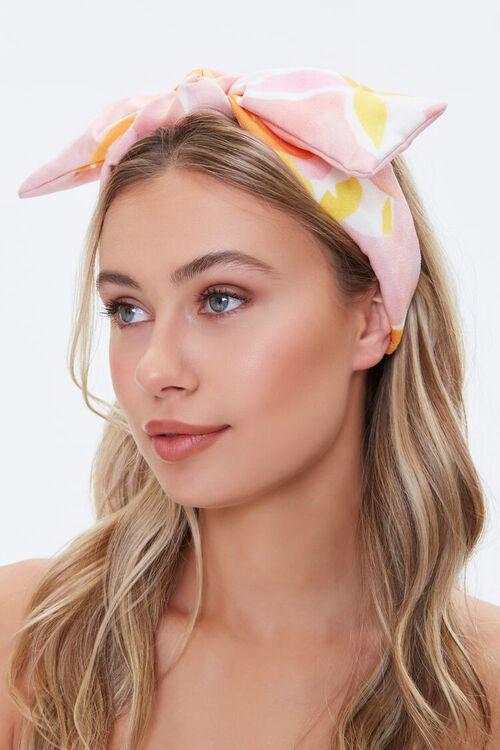 Lemon Print Bow Headwrap, image 2