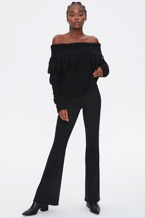 Tassel Off-the-Shoulder Sweater, image 4