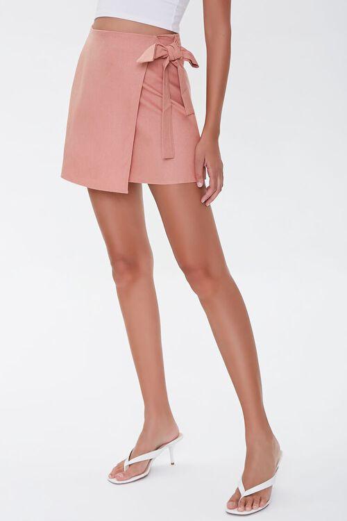 Tie-Waist Mini Skirt, image 2