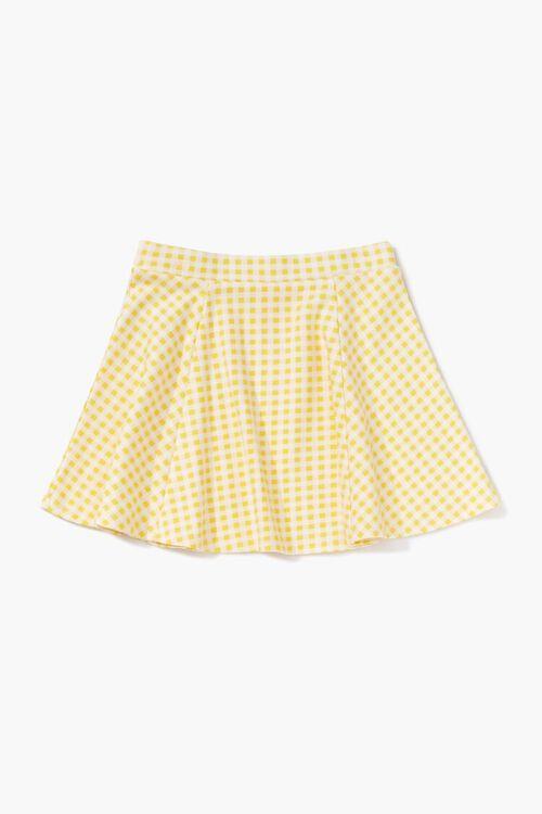 Girls Gingham Print Skirt (Kids), image 2
