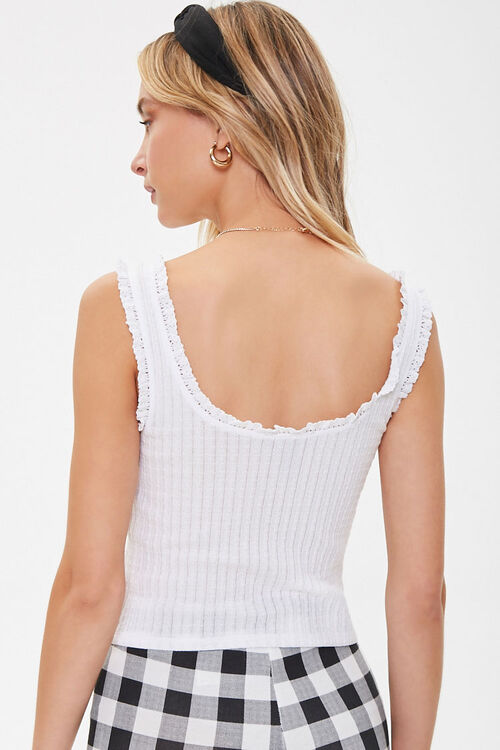Ribbed Crochet-Trim Tank Top, image 3