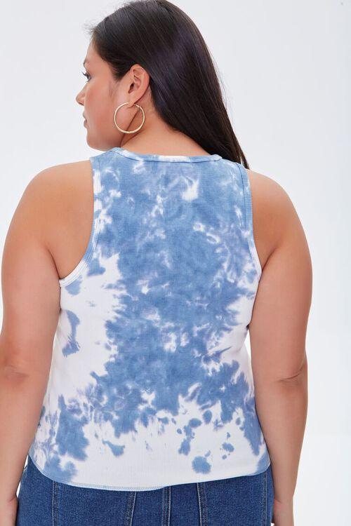 BLUE/WHITE Plus Size Cloud Wash Tank Top, image 4