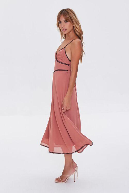 Chiffon Lace-Trim Dress, image 3
