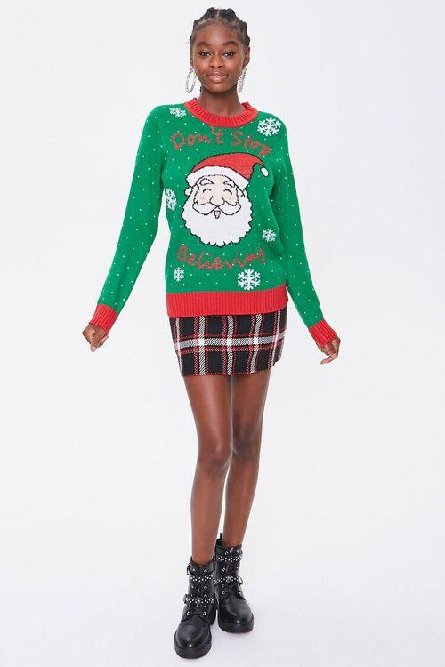 GREEN/MULTI Santa Graphic Sweater, image 4