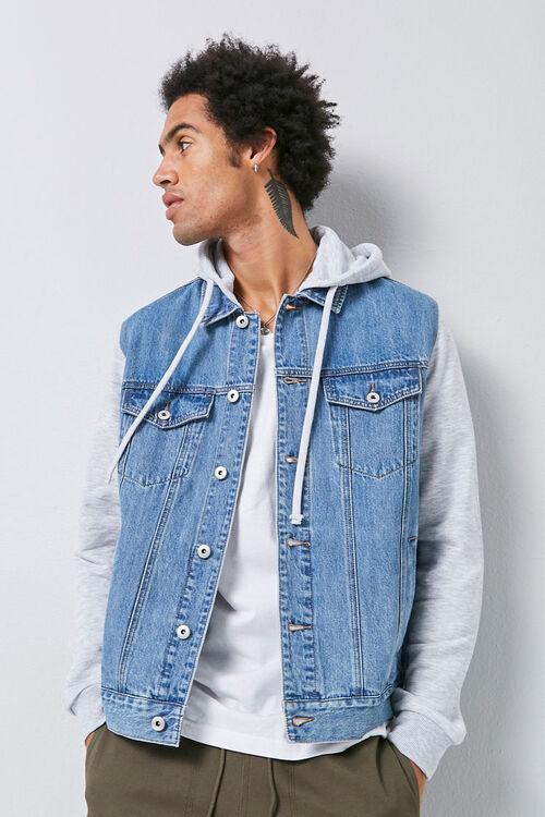 Combo Hooded Denim Jacket, image 1