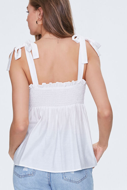 Ruffled Self-Tie Buttoned Top, image 3