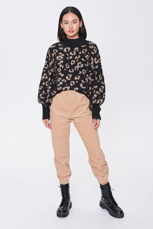 Fuzzy Leopard Print Sweater, image 4