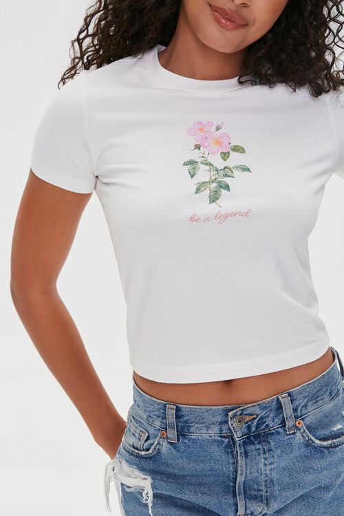 Be a Legend Floral Graphic Tee, image 6