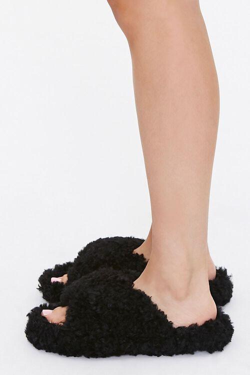 Fuzzy Faux Sheepskin Slippers, image 2