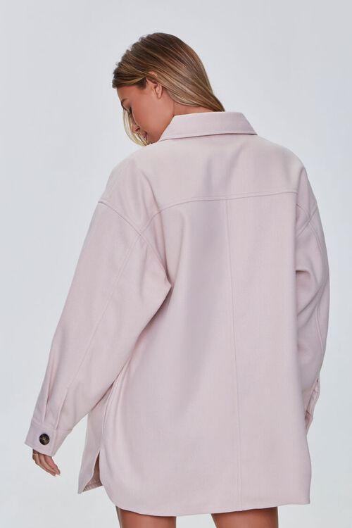 CREAM Oversized Button-Front Shacket, image 3