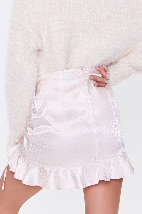 Satin Cheetah Print Mini Skirt, image 4