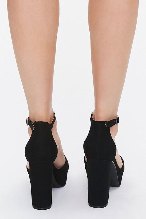 Faux Suede Platform Heels, image 3